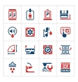 Set color icons of shower cabin vector image vector image