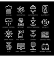 Set line icons of house systems vector image vector image