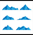 set mountains shapes icon in various different vector image vector image