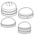 set of burger vector image
