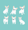 set of cute little white vector image