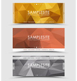 Set of geometric polygonal header vector image vector image