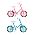 set of two kids bicycles isolated on a white vector image