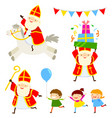 sinterklaas characters set vector image vector image