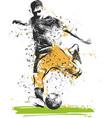 soccer player kicking ball sport vector image vector image