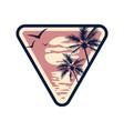 summer vacation emblem vector image
