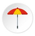 sun umbrella icon circle vector image vector image