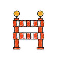 under construction barrier graphic design icon vector image vector image