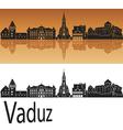 Vaduz skyline in orange vector image vector image