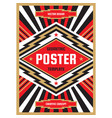 vertical poster template in heavy power style vector image vector image
