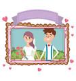 wedding portrait cartoon vector image vector image