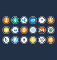 cryptocurrency icon collection vector image