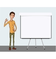 Presentation of business product project report vector image