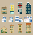 Houses collection Europe house vector image