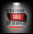 black friday sale banner abstract design vector image