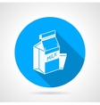 Contour icon for pasteurized milk vector image