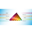 3d infographic template with cone sliced to six vector image vector image