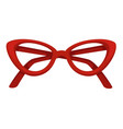 50s style glasses cat eye shape eyeglasses vector image