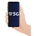 5g worlds fastest mobile internet vector image vector image