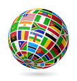 African flags globe vector image vector image
