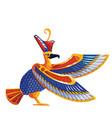 ancient egypt sacred bird falcon vector image vector image