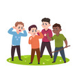 angry kids bad boys confronting and bullying vector image vector image