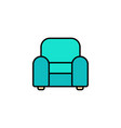 armchair flat icon sign symbol vector image
