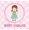 Baby shower card with a cute girl vector image vector image