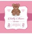 Baby Shower design teddy bear icon pink vector image vector image