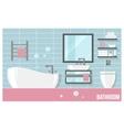 bathroom modern interior vector image vector image