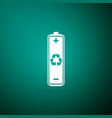 battery with recycling symbol icon isolated vector image vector image