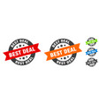 best deal stamp best deal round ribbon sticker tag vector image vector image