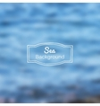 blurred nature sea blue background vector image vector image