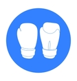 Boxing gloves icon in black style isolated on vector image vector image