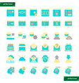 browser and interface flat icons set vector image