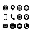 Business card icon contact symbol