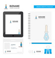 business logo tab app diary pvc employee card and vector image vector image