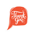 calligraphy of thank you phrase hand vector image vector image