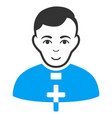 catholic priest flat icon vector image vector image