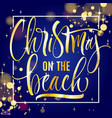 christmas on the beach lettering vector image