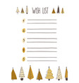 christmas wish list hand drawn vector image vector image