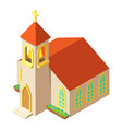 church tower icon isometric style vector image vector image