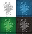 Circuit board tree background vector image