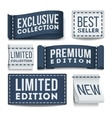 Clothing labels set vector image vector image