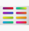 colorful icon templates isolated on transparent vector image vector image
