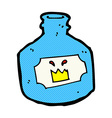 comic cartoon old bottle vector image vector image