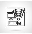 Coworking workplace icon vector image