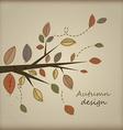 cute autumn design vector image