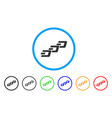 dash chain rounded icon vector image