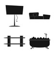 design of furniture and apartment icon vector image vector image